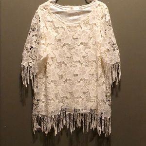 Vintage lace dress / top